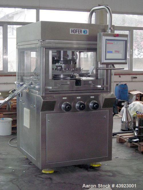 "Used-Hofer LB 350/6x4 Rotary Tablet Press.  Handles tooling for EU 35 Euro D, B, BB, 24 stations, filling depth 0.984"" (25 m..."