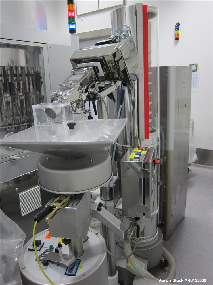 Used-IMA tablet filling line consisting of: (1) IMA IMATIC 200 capsule filler, rated up to 200,000 capsules/hour, powder fil...