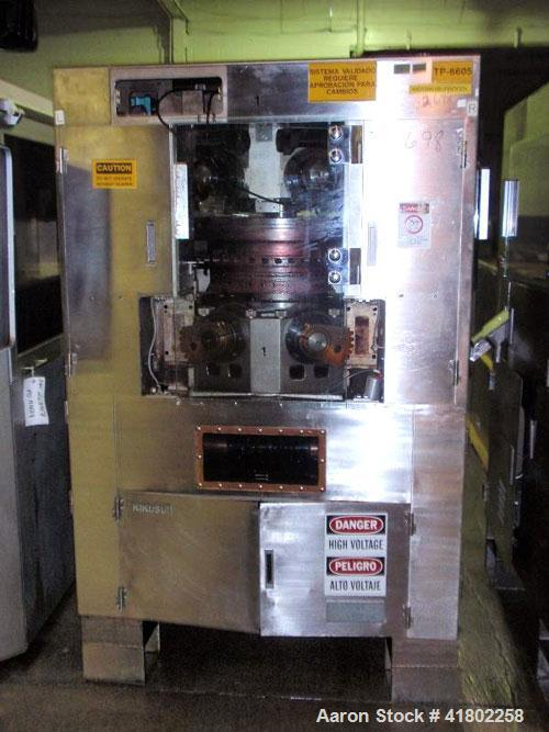 Used- Kikusui Rotary Tablet Press, Model Gemini 855 KAWCX. 55 station, 8 ton compression force with pre-compression adjustab...