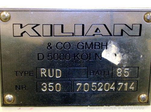 Used- Killian rotary tablet press, model RUD