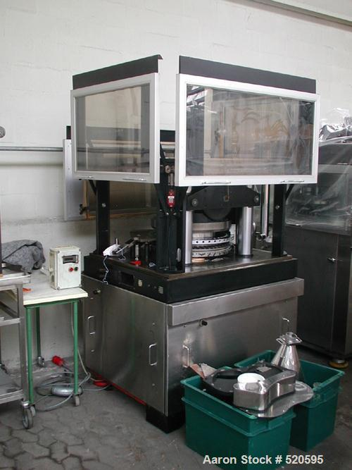 USED: Killion RX51 rotary tablet press. 51 stations, double sided, fitted pre-compression, upper keyed. Max output 500,000 t...