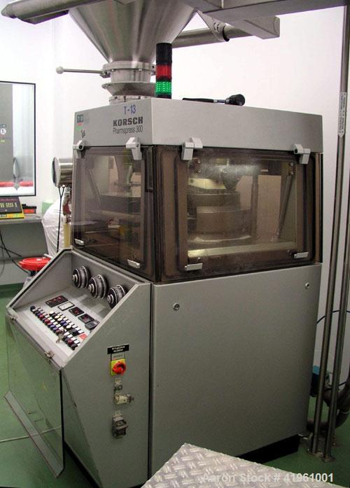 """Used-Korsch PH 300 Tablet Press. 36 station, max compression force 9 tons (80 kN), max tablet diameter 0.63"""" (16 mm), max fi..."""