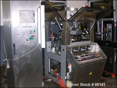 Used- Korsch Rotary Tablet Press Parts Machine, Model Pharmapress 300. 36 Station, 20 KN pre-compression, 80 KN total compre...