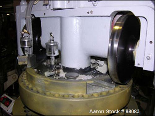 """USED: Manesty rotary tablet press, model BB3B. 45 station, 6.5 ton compression pressure, 7/16 max tablet diameter, 11/16"""" ma..."""