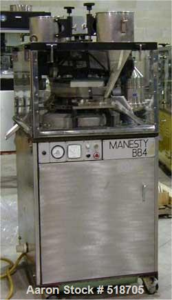 USED: Manesty BB4-45 station high speed rotary tablet press. This is adouble sided tablet press which was originally manufac...