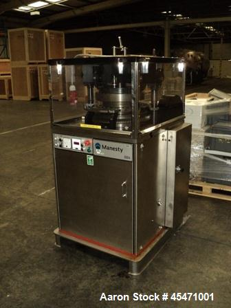 Used-Manesty Model BB4 Bi-Layer 27 Station Rotary Tablet Press