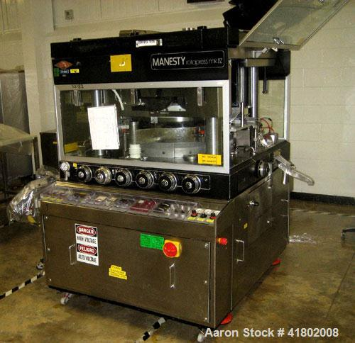 Used- Manesty Rotary Tablet Press, Model Rotapress Mark IV, 55 station. 6-1/2 ton compression force with pre-compression 1 t...
