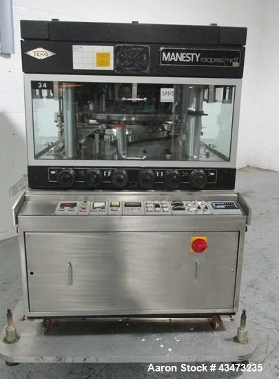 Used- Manesty Rotary Tablet Press, model Mark IV