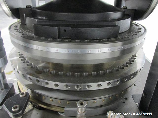 Used- Manesty Rotary Tablet Press, Model MKIIA. 61 Station, double sided, with pre-compression, 6.5 tons compression, keyed ...