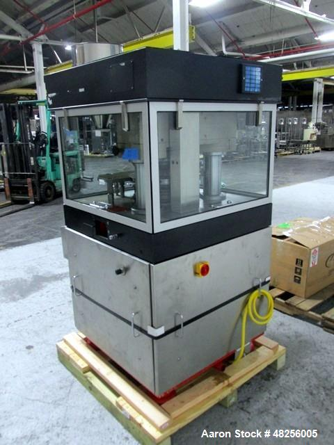 Used- BWI Manesty Rotary Tablet Press, Model Unipress. 20 Station, keyed upper punch guides, 10 ton main compression, 1 ton ...