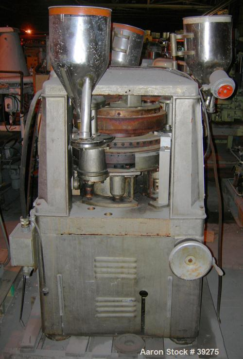 "Used- Manesty Tablet Press, Layer Press Series 47. 3 Layer, (47) 1"" diameter holes,  420-1500 layer tablets per minute. Max ..."