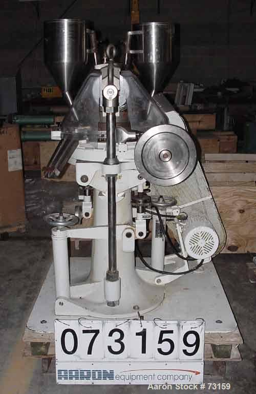 """USED: Natoli tablet press, type BB. Operating pressure 4 tons. 45 stations, designed for 3/4"""" (19mm) tooling. Max tablet dia..."""