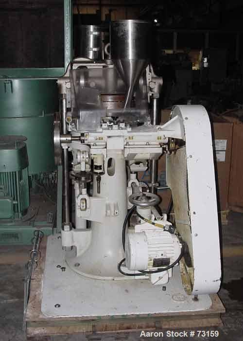 "USED: Natoli tablet press, type BB. Operating pressure 4 tons. 45 stations, designed for 3/4"" (19mm) tooling. Max tablet dia..."