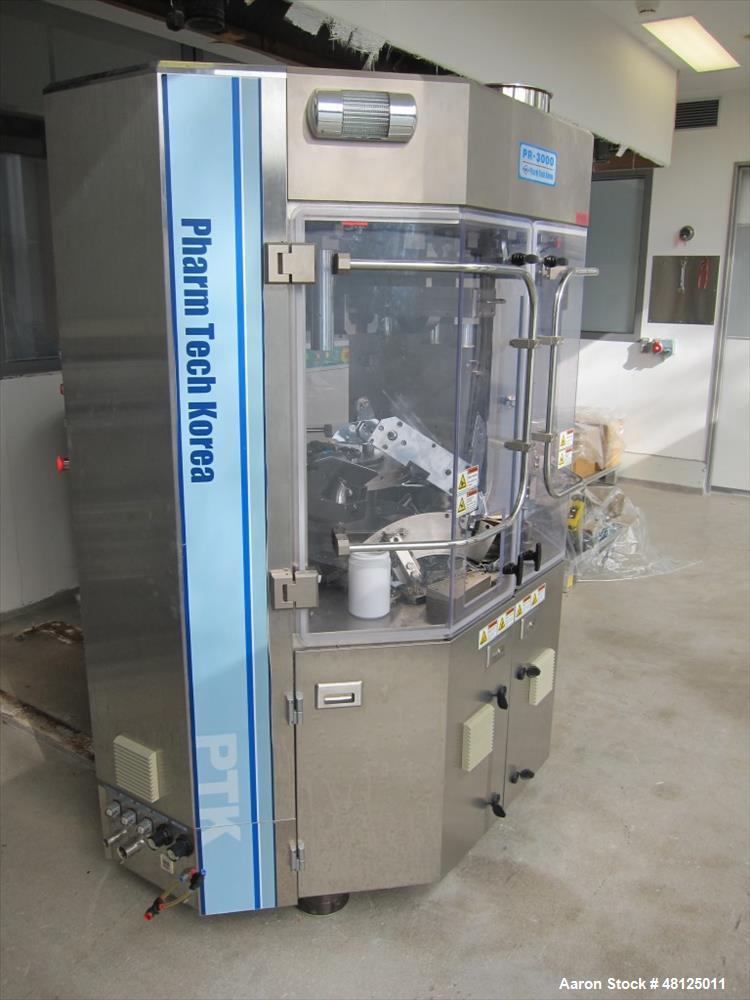 Used-Pharm Tech Korea tablet presse, model PR-3000, stations, 100 Kn pre compression, 100Kn main compression, 12 mm/15mm/18m...