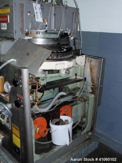 Used- Stokes Rotary Tablet Press, model 900-328-1, 33 station, 10 ton compression pressure, keyed upper punch guides, body o...