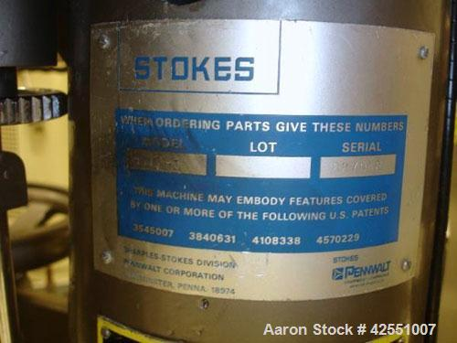 """Used- Stokes Rotary Tablet Press, Model 900-512-001. 16 Station, 4 ton compression pressure, 5/8"""" maximum tablet diameter, 1..."""