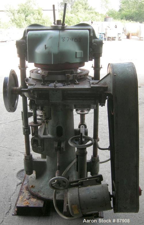 """Used- F.J. Stokes Rotary Press, Model BB2-900-513-1. 4 Ton max pressure above and below, 27 station. 11/16"""" max depth fill, ..."""