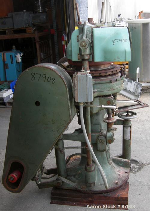 "Used- F.J. Stokes Rotary Press, Model BB2-900-513-1. 4 Ton max pressure above and below, 27 station. 11/16"" max depth fill, ..."