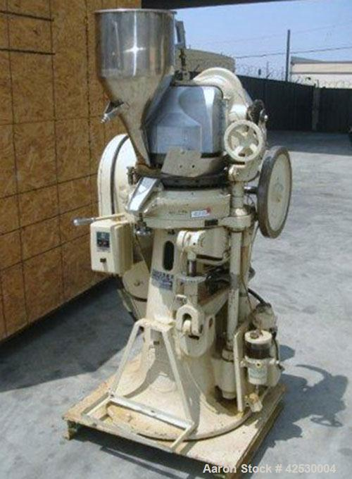 Used- Stokes Rotary Tablet Press, Model BB2. 27 Stations. Keyed upper punch guides,  220/440/60/3, rated 725-1400 tablets pe...