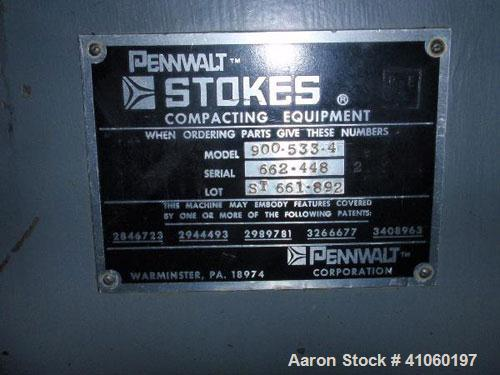 Used- Stokes Rotary Tablet Press, Model 900-533-4