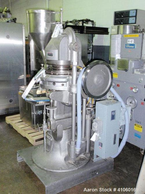 "Used- Stokes Rotary Tablet Press, Model D3-15. 15 station, keyed upper punch guide, 7 ton compression pression, 15/16"" max t..."