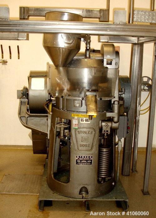 Used- Stokes Single Sided Rotary Tablet Press, Model DDS-2 (557). 11 station, approximately 15 tons operating pressure. 3-1/...