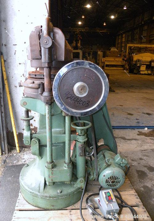 Used- Stokes Single Sided Rotary Tablet Press, Model DS-3. 15 stations, approximately 15 tons operating pressure. 1-3/16'' m...