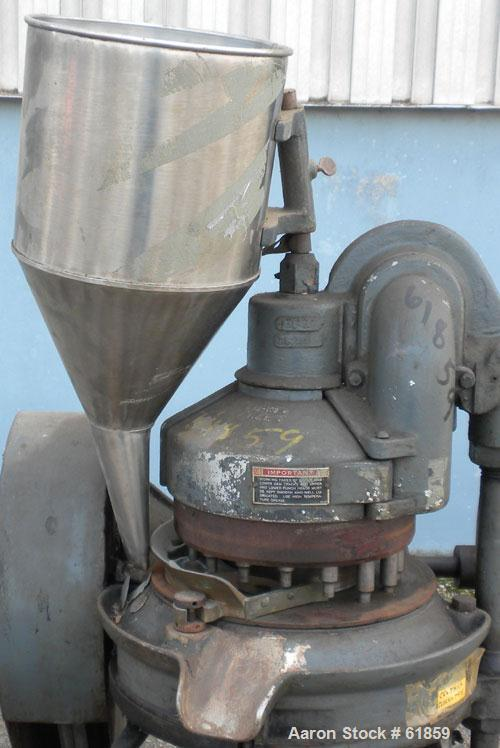 Used- Stokes Rotary Tablet Press, Model RB2, 16 Station. 4 ton pressure above and below. Maximum depth of fill, maximum diam...