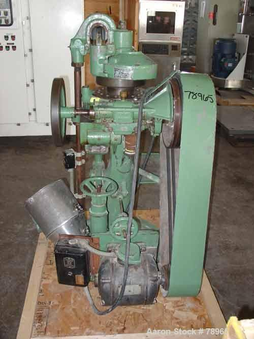 "USED: Stokes rotary press, model RB2. 4 ton max pressure above and below. 16 station max. 11/16"" max depth of fill, 5/8"" max..."