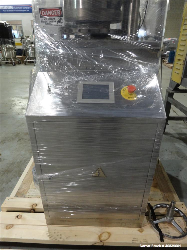 Used- Vanguard Pharmaceutical Machinery Rotary Tablet Press, Model VRP1124, Approximate 9 Tons, nickle/alloy construction. M...