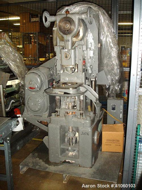 """Used- Stokes Single Station Tablet Press, model 526-1. Approximately 20 ton compression pressure, approximately 3"""" max diame..."""