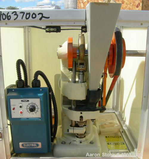 Used-  Stokes Single Motion, Single Punch Compacting Press, Model 900-511-695040.  Maximum pressure from above 1 1/2 Ton, ma...