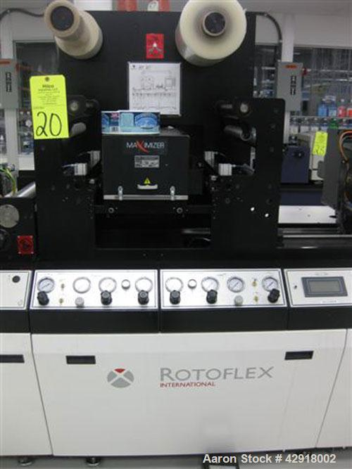 "Used- Rotoflex DLI 330 die cutting and laminating line with Vericut C2 die cutter. Maximum web width: 13"" (330MM) Minimum We..."
