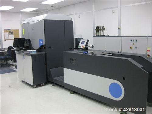 Used- Hewlett Packard HP Indigo WS4500 Digital 7 Color Printing Press. Capable of speeds up to 15 meters per minute in four ...
