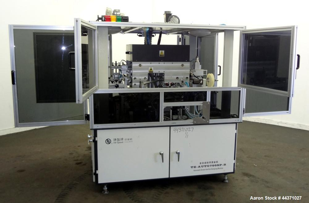 Used- Shanghai Hi-Speed Automatic Screen & Hot Stamping Machine, Model TZ-AUTO700SP-R
