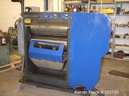 "USED: WPM rotary cutter, 35.5"" circumference x 28"" wide. Cutting head sold ""as is"" or remanufactured complete with digital k..."