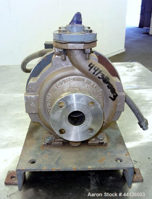 Used- Durco Centrifugal Pump, Model MK3STD, Size 1K1.5-62RV/6.25, CD4M Ferralium 255 stainless steel.  Rated approximately 4...