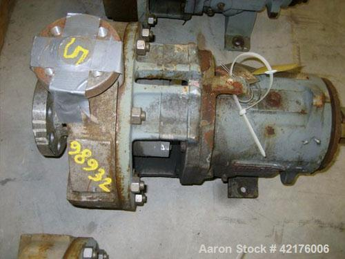 "Used- Durco Centrifugal Pump, Model Lo-Flo, Size 2X1X10, Alloy 20. 2"" inlet, 1"" outlet. Approximately 52 gallons per minute ..."