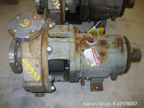 """Used- Durco Centrifugal Pump, Model Lo-Flo, Size 2X1X10, Alloy 20. 2"""" inlet, 1"""" outlet. Approximately 52 gallons per minute ..."""