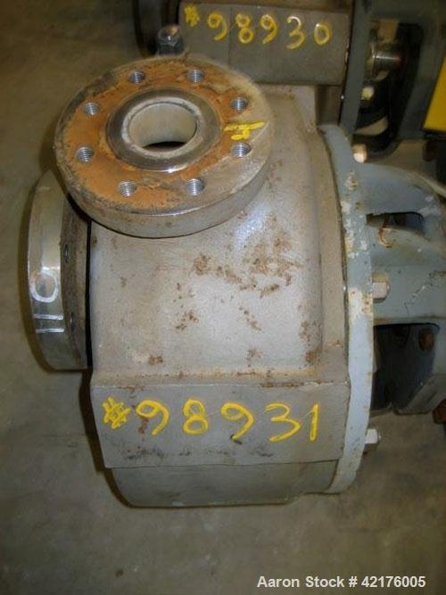 """Used- Durco Centrifugal Pump, Size 3X2X13, Alloy 20. 3"""" inlet, 2"""" outlet. Approximately 200 gallons per minute at 78' head. ..."""