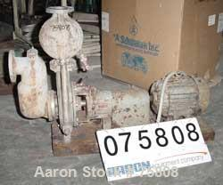 """Used- Durco Centrifugal Pump, Model 4X3S-10H/90, Ferralium. 4"""" inlet, 3"""" outlet. Approximately 500 gallons per minute at 50'..."""