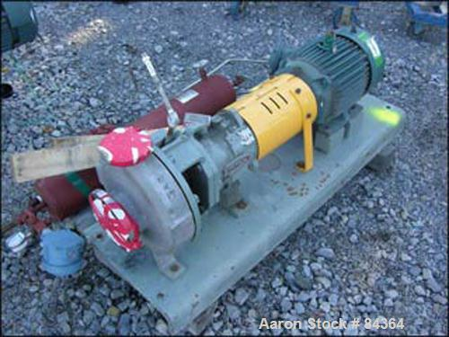 "Used- Durco Centrifugal Pump, Hastelloy C-276. 3"" Inlet, 1-1/2"" outlet. Driven by a 10 hp, 3/60/460 volt, xp motor. Base mou..."