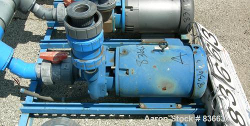 "Used- Goulds Centrifugal Pump, Model 3656, size 1-1/2 x 2-8, CDA922 bronze. 2"" inlet, 1-1/2"" outlet, approximate 6-1/2"" diam..."