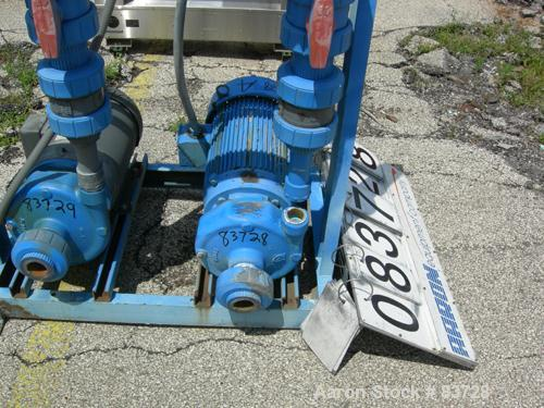 """Used- Goulds Centrifugal Pump, Model 3656, Size 1-1/2 x 2-8, CDA922 Bronze. 2"""" inlet, 1-1/2"""" outlet, approximate 6-1/2"""" diam..."""