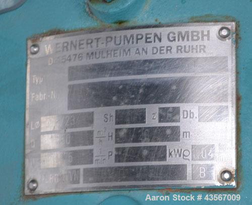 Used- Wernert-Pumpen GMBH Centrifugal Pump, Model NEPO 200-150-250