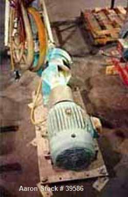 Used- Pacific Pump Industrial Pump, Model 52-37021-046215. Painted mild steel frame, nickel alloy head, nickel alloy impelle...