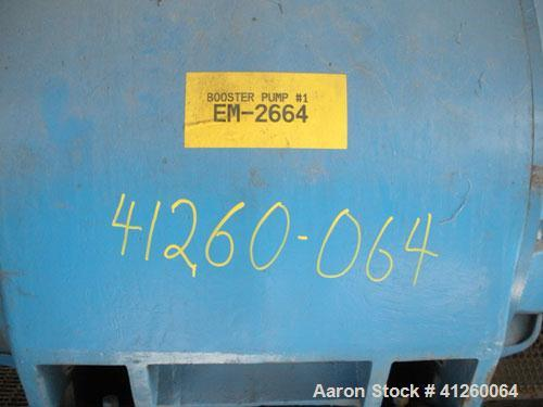 Used-Pump with electric motor, Allis-Chalmers 400 hp motor, 880 rpm , 440V, 3 Ph.