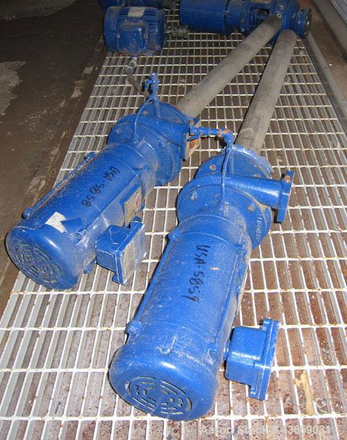 Used-Pump, Sump, Shippenburg Pump Co, MN SOPH00133, 22.5 gallons/minute, size 1-1/2 x 1-1/2 x 6, stainless steel, with 3 hp ...