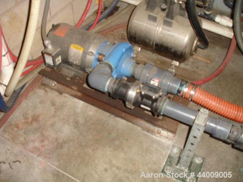 "Used- 5 HP Carbon steel Centrifugal pump, 2"" x 1-1/2""."