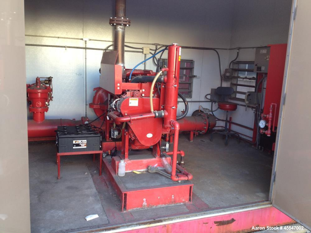 Used- Complete Tiger Flow Diesel Fire Pump System. (With building). Includes Cummins Fire Power Model CFP83-F30 [C8.3 Series...